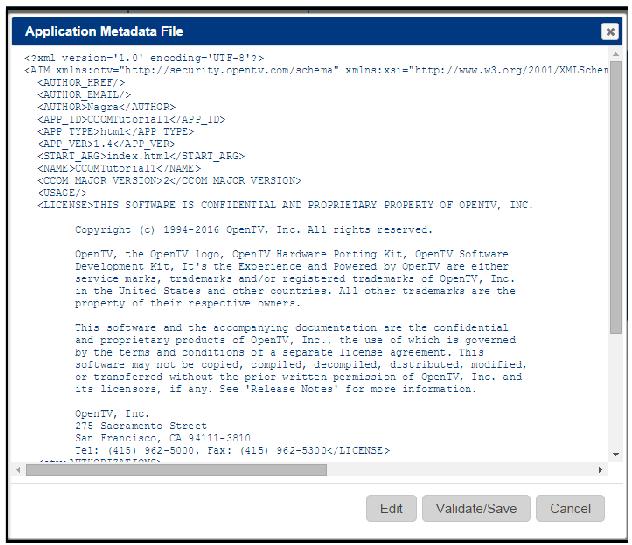 SDK Application Controller User Guide | OpenTV